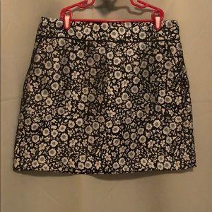 High waisted flower skirt